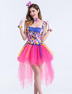 billige Voksenkostymer-Karneval Kostume Dame Voksne Halloween Halloween Karneval Maskerade Festival / høytid Polyester Drakter Rosa Printer