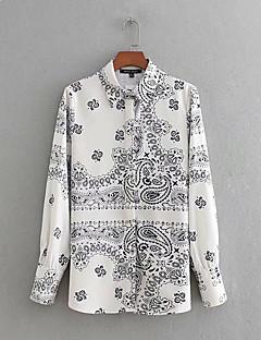 billige Skjorte-Dame - Grafisk Gade Skjorte