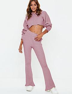 זול עליוניות וסטים לנשים-מכנס פסים - קפוצ'ון בסיסי בגדי ריקוד נשים