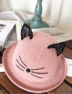 billige Hatter til damer-Dame Grunnleggende Stråhatt Fargeblokk