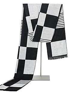 cheap Men's Scarves-Men's Basic Rectangle Scarf - Striped Tassel / Winter