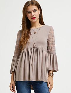 Χαμηλού Κόστους Suzanne Betro-Γυναικεία T-shirt Ενεργό / Βασικό Μονόχρωμο Δαντέλα