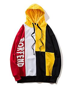 tanie Miesten hupparit ja collegepuserot-męska bluza z kapturem z długim rękawem - kolorowy blok / jednolity kolorowy z kapturem fioletowy m