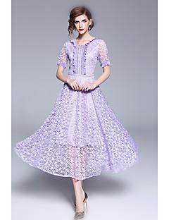 billiga Cocktailklänningar-A-linje Prydd med juveler Telång Spets Bal Klänning med Krusad av LAN TING Express