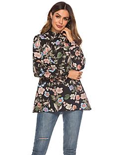 billige Bluse-Dame - Blomstret Gade Bluse