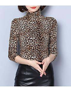 billige Bluse-Dame - Leopard Gade Bluse