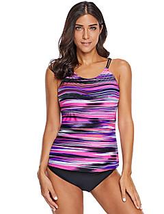 billige Bikinier og damemote-Dame Grunnleggende Fuksia Cheeky En del Badetøy - Geometrisk Trykt mønster XL XXL XXXL
