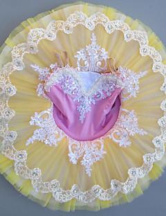 tanie Stroje baletowe-Balet Sukienki Dla dziewczynek Spektakl Spandeks Koronka / Materiały łączone / Kryształy / kryształy górskie Bez rękawów Sukienka