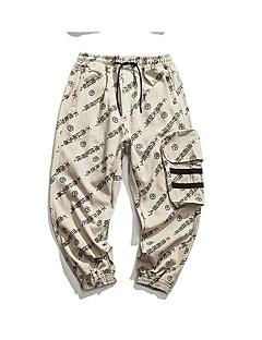 billige Herrebukser og -shorts-menns slanke chinosbukser - brev / solid farget hvit