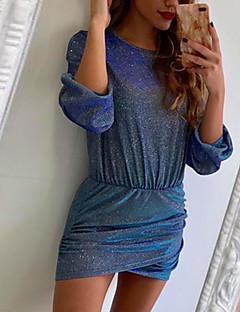 tanie Sukienki-Damskie Pochwa Sukienka - Solidne kolory Mini