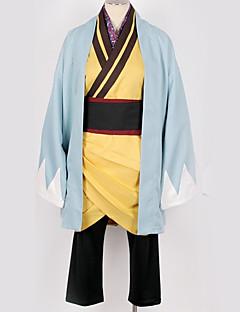 """billige Anime Kostymer-Inspirert av Cosplay Cosplay Anime  """"Cosplay-kostymer"""" Cosplay Klær / Japansk Kimono Ensfarget Mer Tilbehør / Kimono Frakke / Kostume Til Herre / Dame"""