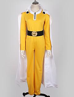 """billige Anime Kostymer-Inspirert av En Punch Man Cosplay Anime  """"Cosplay-kostymer"""" Cosplay Klær Ensfarget Topp / Bukser / Hansker Til Herre / Dame"""