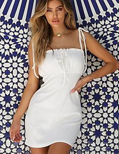 9ad4ee7248aa γυναικεία καθημερινή πάνω γόνατο λεπτό σορτς φόρεμα σώματος βαμβάκι λευκό  κόκκινο s m l