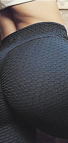 abordables -Femme Jacquard Pantalon de yoga Des sports Couleur unie Spandex Collants Leggings Zumba Danse Course / Running Tenues de Sport Respirable Design Anatomique Butt Lift Power Flex Elastique Mince