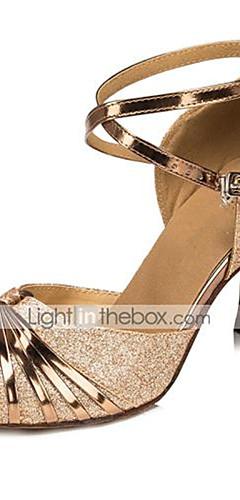 1637523b2c0c Χαμηλού Κόστους -Γυναικεία Παπούτσια χορού λάτιν / Παπούτσια σάλσα  Δερματίνη Πέδιλα Αγκράφα Τακούνι καμπάνα Εξατομικευμένο