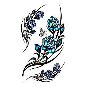 economico Tatuaggi temporanei-Tatuaggi adesivi Tatuaggi temporanei Serie fiori / Serie romantica Monouso / Alta qualità, senza formaldeide arti del corpo Corpo / Gamba / indietro