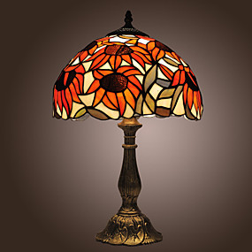 billige Tiffany Lamper-Tiffany Bordlampe Til Stue Soverom 110-120V 220-240V
