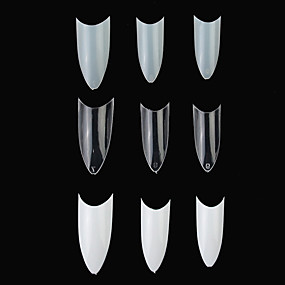 100 Pcs Full Cover Nail Tips Art Manicure Pedicure Daily Abstract Fashion Acrylic