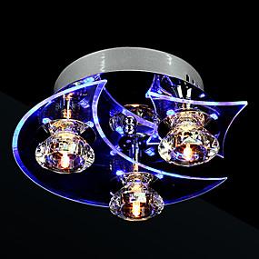 tanie Mocowanie przysufitowe-3 światła Podtynkowy Światło rozproszone Galwanizowany Metal Kryształ, LED 110-120V / 220-240V Zawiera żarówkę / LED zintegrowany / G4 / LED zintegrowany