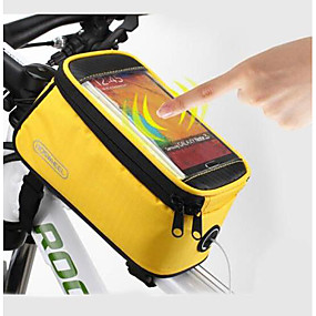 cheap Bike Frame Bags-ROSWHEEL Cell Phone Bag Bike Frame Bag Top Tube 5.5 inch Touch Screen Waterproof Cycling for Samsung Galaxy S6 LG G3 Samsung Galaxy S4 Blue / Black Red Blue Cycling / Bike / iPhone X / iPhone XR