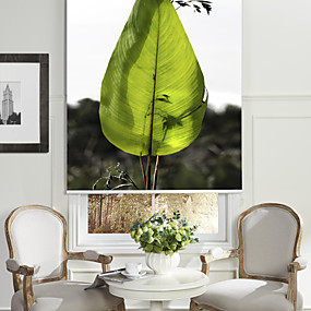 povoljno Sjenila-Modern Art Style Green Leaf Roller Shade