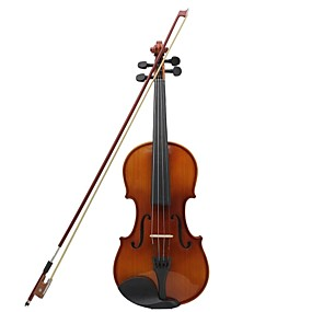 cheap Musical Instruments-4/4 Natural Color Light Tiger Stripes Violin Rosin + + Bow + Foam Boxes