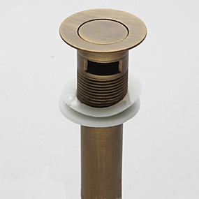 cheap Faucet Accessories-Faucet accessory - Superior Quality - Vintage Brass Pop-up Water Drain Without Overflow - Finish - Antique Bronze