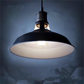 billige Hengelamper-diameter 27cm vintage anheng lys 1-lys metall skygge stue spisestue gang belysning