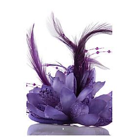 baratos Tiaras-Chifon / Cristal / Imitação de Pérola Tiaras / Fascinadores / Flores com 1 Casamento / Ocasião Especial / Festa / Noite Capacete / Chapéus / Renda / Tecido