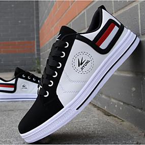 abordables Baskets pour Homme-Homme Chaussures Similicuir Automne Chaussures Vulcanisées Confort pour Décontracté Blanc Rouge Jaune