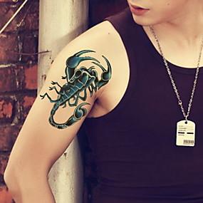 voordelige tattoo stickers-1 pcs Tijdelijke tatoeages Waterbestendig / Non Toxic / Glitterglans Gezicht / Klankkast / handen Schitteren Bodypaintsjablonen / Patroon / Onderrrug / Waterproof