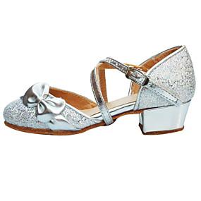 58726bf5b1e Γυναικεία Παπούτσια χορού λάτιν Λαμπυρίζον Γκλίτερ / Με πούλιες Πέδιλα  Χαμηλό τακούνι Μη Εξατομικευμένο Παπούτσια Χορού Ασημί / Χρυσό /