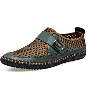 voordelige Wijdere maten schoenen-Heren Comfort schoenen Leer / Tule Lente / Zomer / Herfst Loafers & Slip-Ons Groen / Bruin / Grijs / Sportief / ulko- / Toimisto & ura / EU40