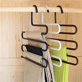 cheap Others-Multifunctional S Magic Wardrobe Iron Pants Hook Support Multi-layer Antiskid(Random Color)