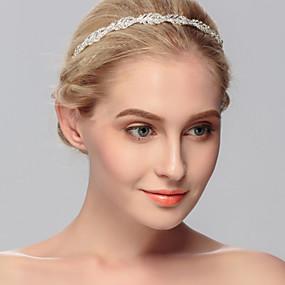 baratos Tiaras-Strass Headbands com 1 Casamento / Ocasião Especial / Casual Capacete