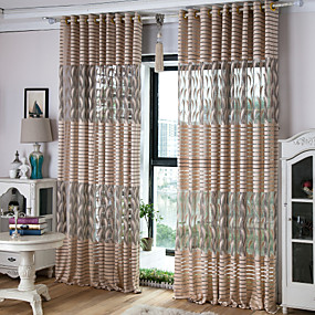 "cheap Sale-Custom Made Sheer Curtains Shades Two Panels 2*(57W×96""L) / Living Room"
