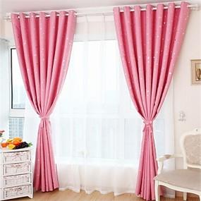 ราคาถูก ผ้าม่าน-ประเทศผ้าม่านทึบม่านสองแผงผ้าม่านห้องนั่งเล่น