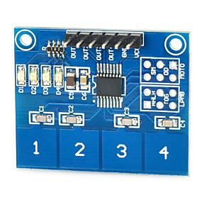 זול חיישנים-מודול מתג מגע קיבולי חיישן ttp224 4 כיווני מגע דיגיטלי עבור Arduino