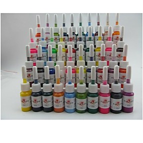 cheap Tattoos & Body Art-BaseKey Tattoo Ink 40 x 5 ml Professional / High quality, formaldehyde free - Multi-Color / Red / Black