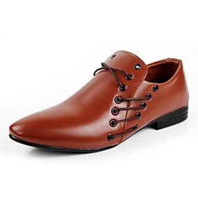 baratos Oxfords Masculinos-Homens Sapatos formais Couro Sintético Primavera / Outono Oxfords Preto / Branco / Marrom / Festas & Noite / Festas & Noite / Sapatos de vestir / Sapatos Confortáveis