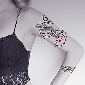 44dd823111fc7 fashion-large-temporary-tattoos-feather-sexy-body-art-waterproof-tattoo- stickers-2pcs-size-5-71-by-8-27