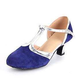 6cc8673bb20 Dámské Boty na moderní tance   Standardní Semiš Podpatky Krajka Kubánský Na  míru Taneční boty   Kůže