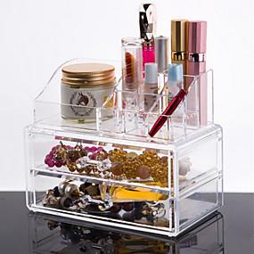 1e1ee078e Almacenamiento de Cosméticos Maquillaje 1 pcs Acrílico   El plastico  Clásico Diario Cosmético Útiles de Aseo