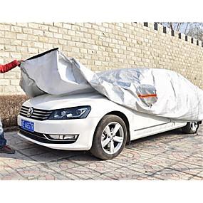 voordelige Autohoezen-de aluminium folie is semi-automatische semi intelligente auto kledingstuk auto's te dekken zon regen isolatie