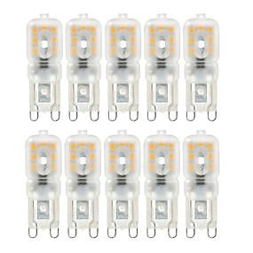 cheap Clearance-YWXLight® 10pcs Dimmable G9 4W 300-400 lm LED Bi-pin Lights 2835SMD Warm White Cool White Natural White Light Bulb  AC 220V AC 110V