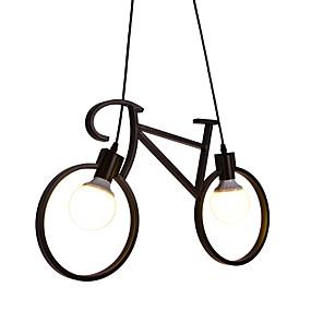 abordables Plafonniers-2 lumières Nouveauté Lampe suspendue Lumière d'ambiance Finitions Peintes Métal Designers 110-120V / 220-240V Ampoule non incluse / E26 / E27