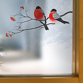cheap Wall Stickers-Window Film & Stickers Decoration Contemporary Animal PVC/Vinyl Window Film