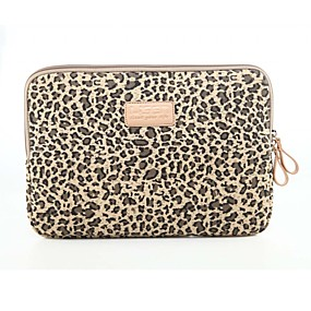 cheap Weekly Deals-Classic Leopard Laptop Sleeve Notebook Bag Laptop Case Cover Liner Bag Shockproof 15.6 inch