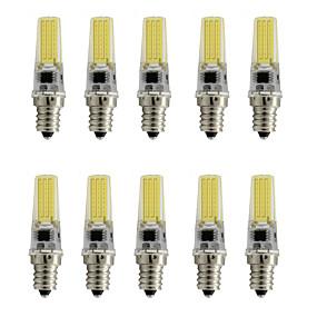 billige Spotlys med LED-10pcs 3 W 250 lm E12 LED-spotpærer T 1 LED perler COB Dekorativ Varm hvit / Kjølig hvit 110-120 V / 10 stk. / RoHs