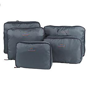 ราคาถูก การท่องเที่ยว-5 ชุด กระเ๋าเดินทาง / ผู้จัดการท่องเที่ยว / Packing Organizer Large Capacity / Portable / ที่สามารถพับได้ Vêtements ไนลอน เดินทาง